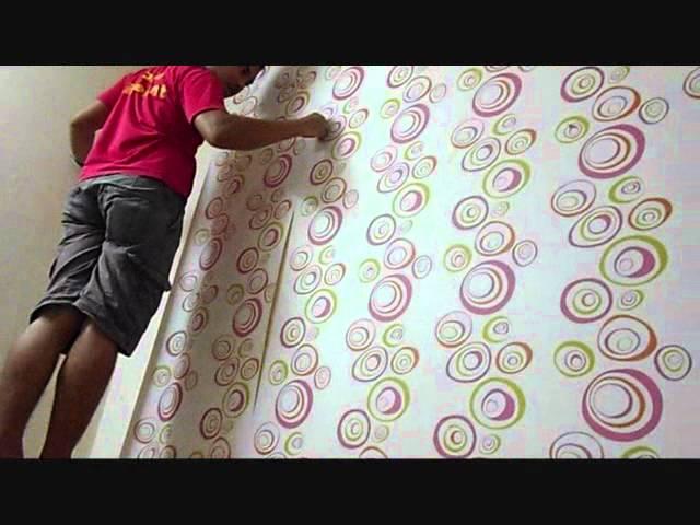 Wallpaper Dinding Desain Sendiri  projek kertas dinding