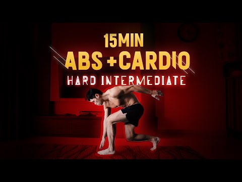 15 Minute Intensive Abs & Cardio - Level: Normal/Hard