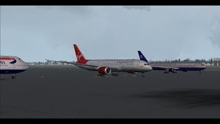 Boston Logan Intl (KBOS) to London Heathrow Intl (EGLL) FSX Virgin Atlantic B787