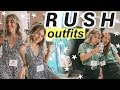 RUSH OUTFITS OF THE WEEK: Sorority Recruitment + My Sorority Reveal!
