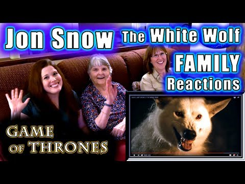 Game of Thrones  JON SNOW The White Wolf  FAMILY Reactions