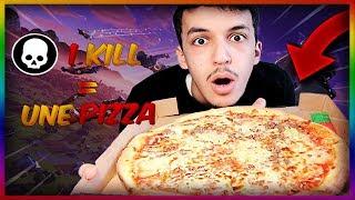 1 KILL SUR FORTNITE = 1 PART DE PIZZA !