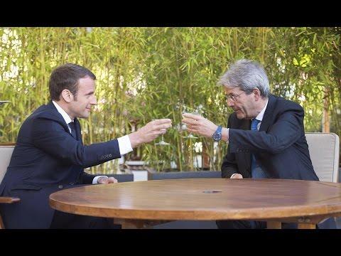 Paolo Gentiloni incontra il Presidente Macron all'Eliseo