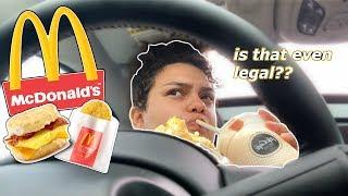 MCDONALDS DRIVE-THRU MUKBANG + FBI AGENTS & DATING TIPS?