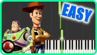Toy Story Theme Song - You've Got a Friend in Me - EASY Piano Tutor...