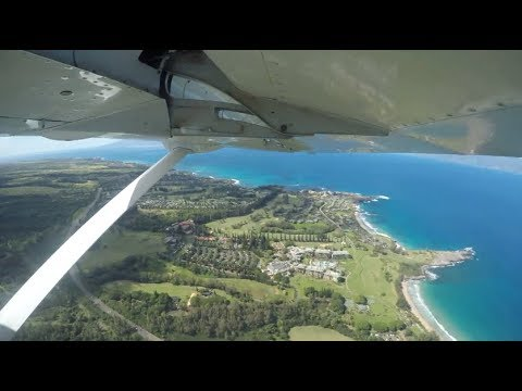 Flight from Oahu to Maui - Mokulele Airlines Timelapse