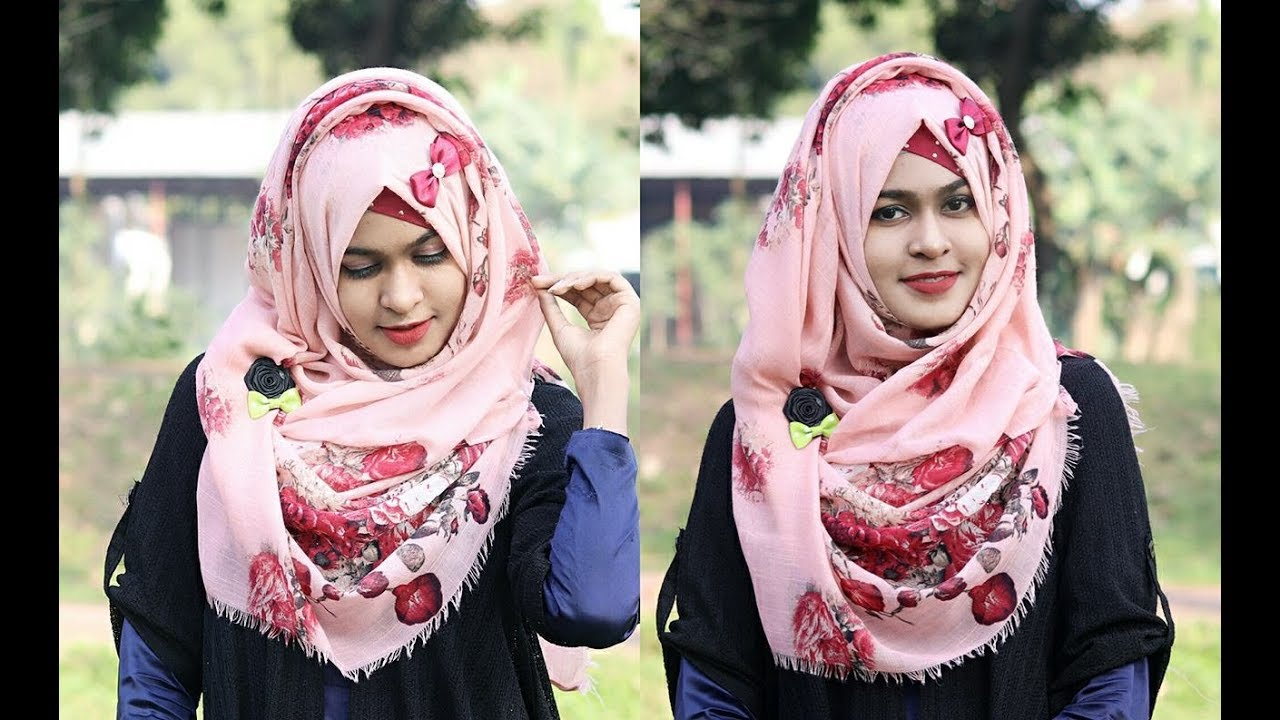 My Favourite Everyday Hijab Style for School / College / University Class  (Full Coverage)