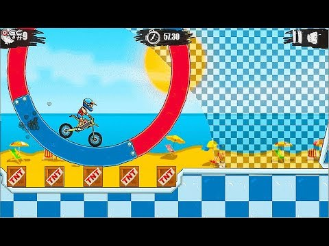 Moto X3M 5 Pool Party - Motor Stunts Games - Online Free Games Gameplay