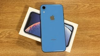 iPhone XR Blue Unboxing & First Impressions