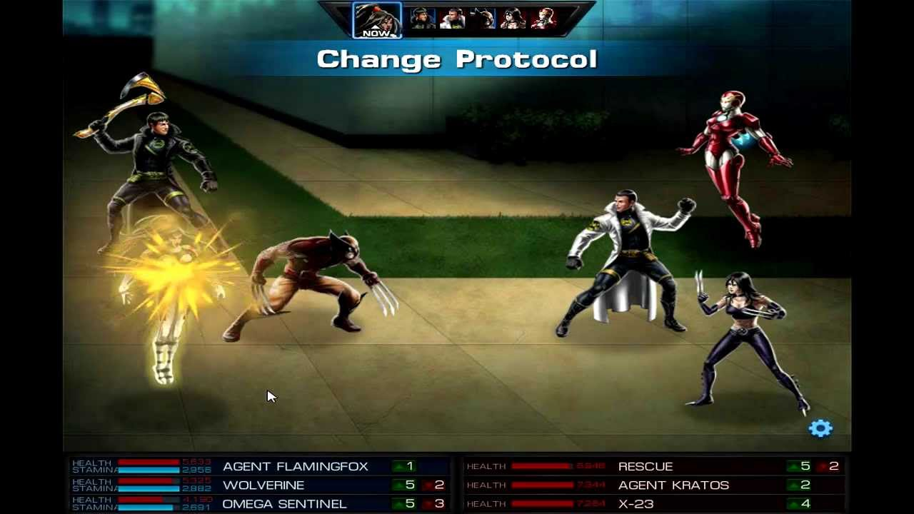 Marvel Avengers Alliance PVP - Wolverine/Omega Sentinel Vs ... X 23 Marvel Avengers Alliance