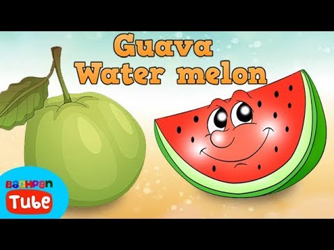 English Nursery Rhymes For Kids Water Melon Fruits Nursery Rhymes And Songs Bachpan Tube