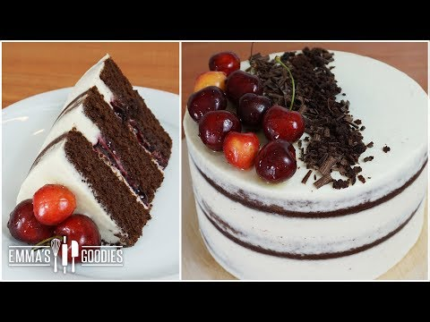Black Forest Cake Recipe - Fresh Cherry Filling