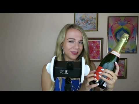 ASMR Champagne Tasting with My New 3Dio