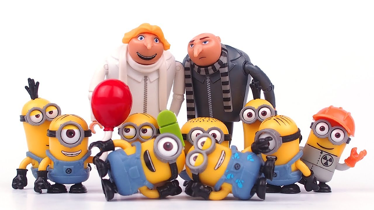 Minions Funny Stories with Dru and Gru • Stop Motion
