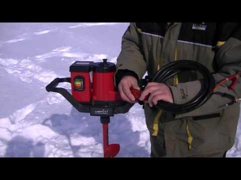 самодельный электробур для рыбалки из стартера