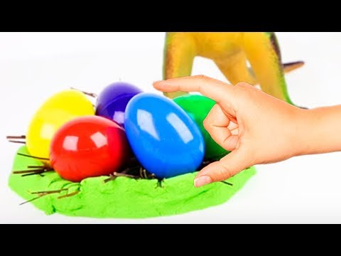 Learn Colors With Eggs Toy Cars Play Doh Creative Video For Kids Coloring Toys Balls Animals