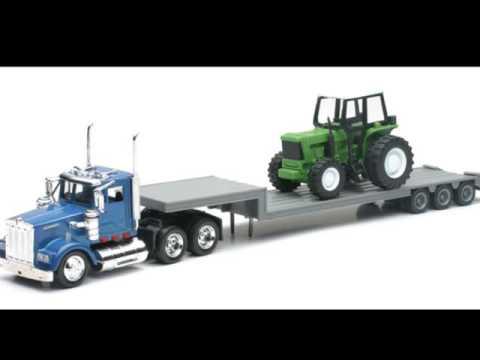 Camion diecast kenworth remorque avec tracteur agricole jouet pour les enfants youtube - Tracteur remorque enfant ...