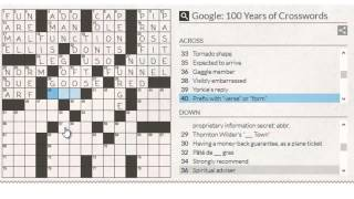 Google: 100 Years Of Crosswords Full Answers