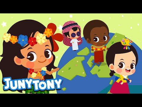 Hello Around The World | Say Hello In 15 Different Languages | Juny&Tony By KizCastle