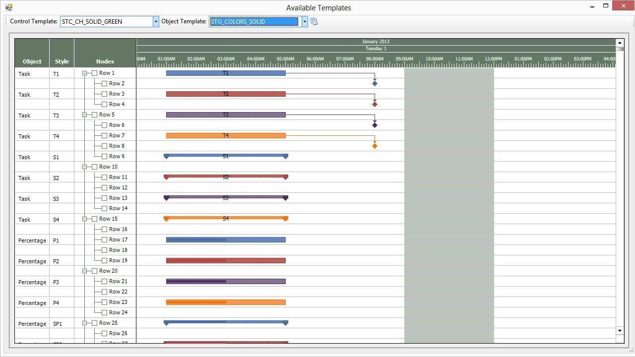 gantt chart available templates activegantt youtube