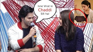 varun dhawan Making Fun of Virat Kohli In Front Of Anushka sharma sui dhaga trailer launch