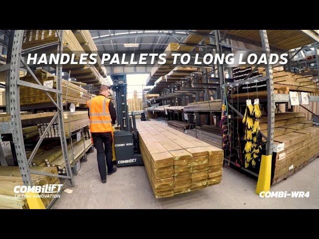 Combilift Pedestrian Forklift - Combi–WR4 delivers Safe Long Load Handling