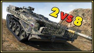 Strv 103B - 11 Kills - 2 VS 8 - World of Tanks Gameplay