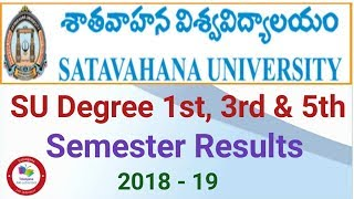How to check SU Degree 1st, 3rd & 5th semester Results  2018 - 19