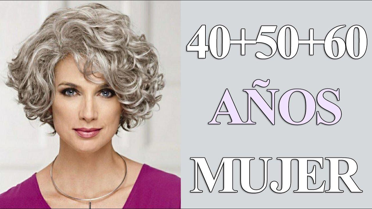 Corte De Cabello Rizado Para Mujer De 40 50 60 De Moda Corte Pelo Ondulado Youtube
