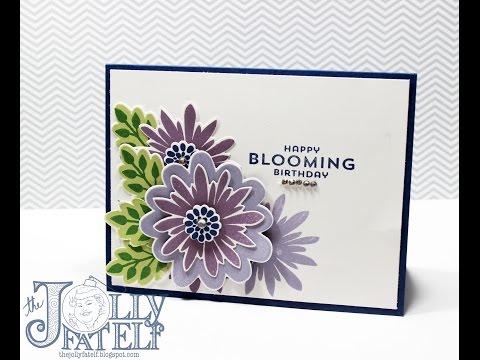 Stampin Up! Flower Patch Birthday Card-VEDA Day 6