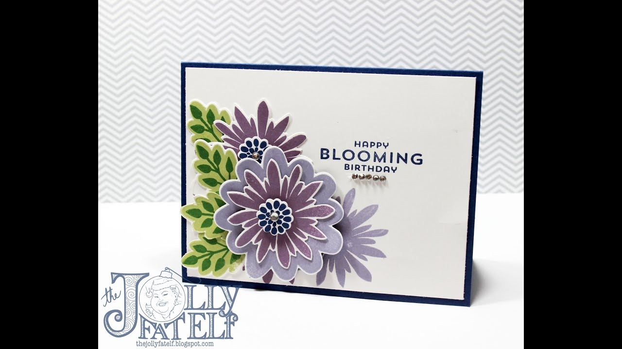 Stampin Up Flower Patch Birthday Card Veda Day 6 Youtube