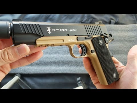 Airsoft Elite Force 1911 Tac Review