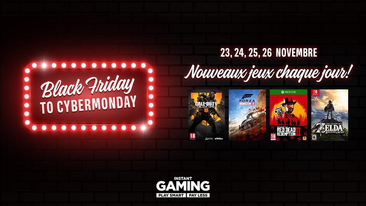 C'est le Black Friday sur Instant Gaming
