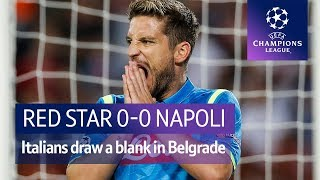 Red Star Belgrade vs Napoli (0-0) UEFA Champions League Highlights