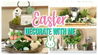 ULTIMATE EASTER DECORATE WITH ME 2019 | FARMHOUSE EASTER DECOR TOUR