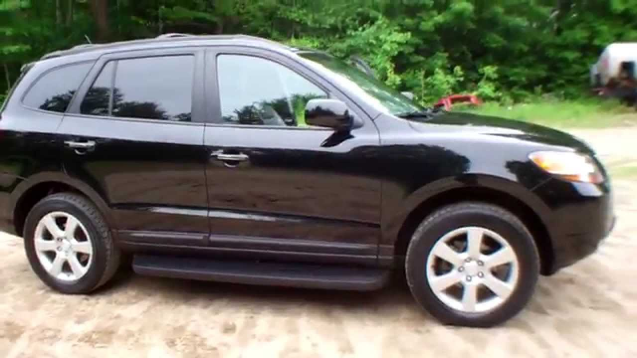for sale used 2009 hyundai santa fe limited all wheel drive 4wd suv youtube. Black Bedroom Furniture Sets. Home Design Ideas