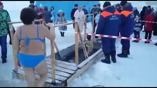 19 января 2018 года, КОМСОМОЛЬСК-НА-АМУРЕ, купание в проруби! Комсомольск, Крещение 2018