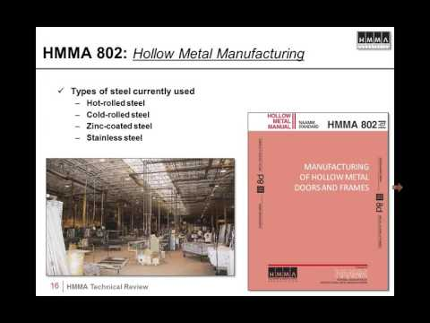The HMMA Hollow Metal Manual