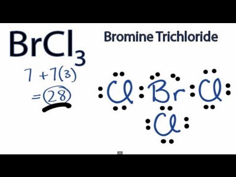 BrCl3 Lewis Structure: How to Draw the Lewis Structure for BrCl3 ...