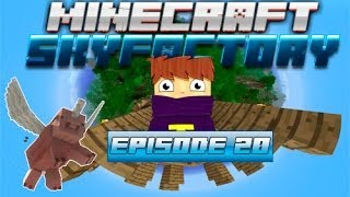 Minecraft - Sky factory #20 - Железная кирка / Делаем плавильню 2ч Tinkers Construct.