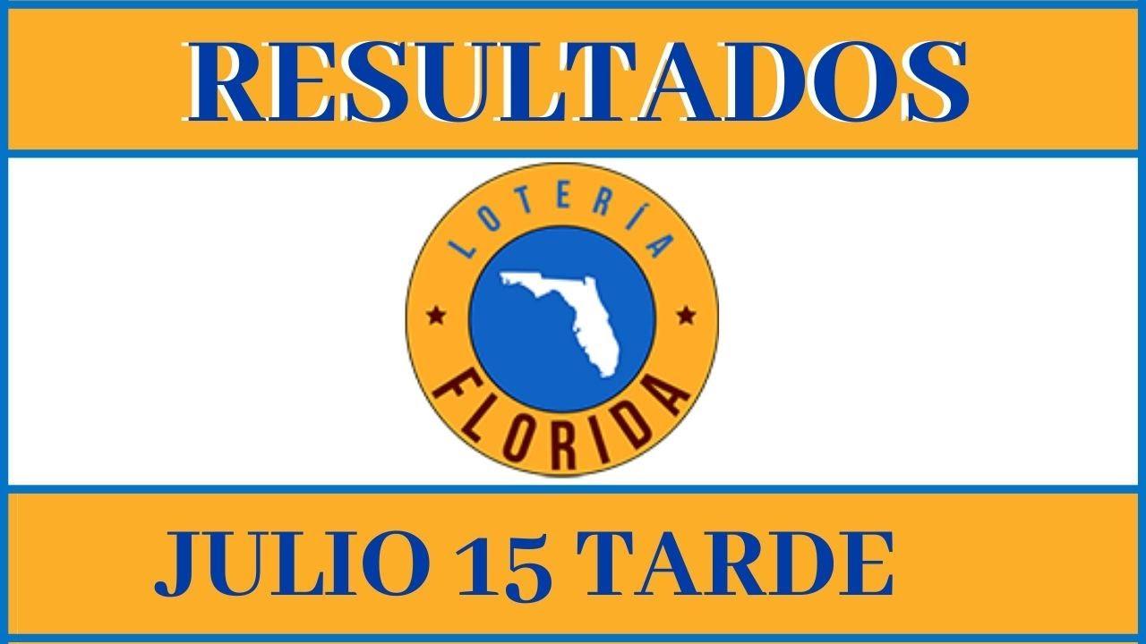 Resultados de la loteria Florida Tarde de hoy 15 de julio del 2020