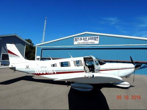 GoPro Flight in Piper Saratoga Erie - Ottawa International to Put-in-Bay Island