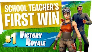 TEACHER gets FIRST WIN to BRAG to STUDENTS! - Fortnite Random Duos