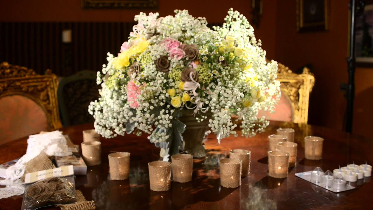 David Tutera Wedding Centerpieces