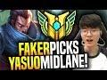 Faker Brings Back His Yasuo! - SKT T1 Faker Picks Yasuo Mid! | SKT T1 Replays