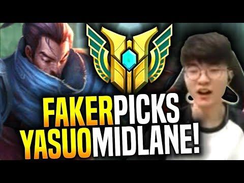 Faker Brings Back His Yasuo! - SKT T1 Faker Picks Yasuo Mid!   SKT T1 Replays