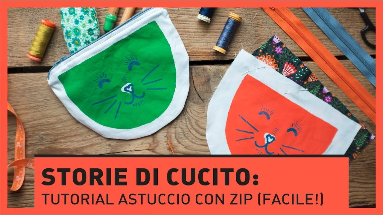 Top STORIE DI CUCITO: Tutorial astuccio con zip FACILE! - YouTube DS12