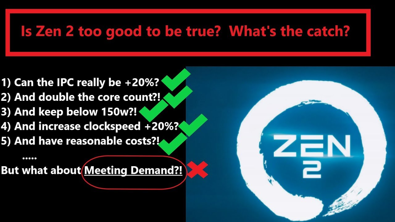 AMD Zen 2: What's the Catch? Is it too good to be true?