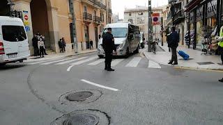 Protesta de funcionarios interinos coincidiendo con la cumbre hispano-italiana