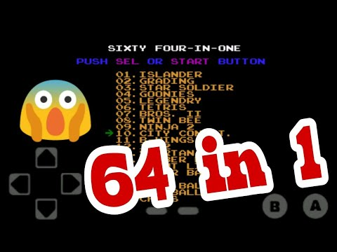 64 games in 1 apk || less than 2MB || 64in1 game cassette apk